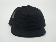China black 6 panel plain blank snapback hat and trucker hat