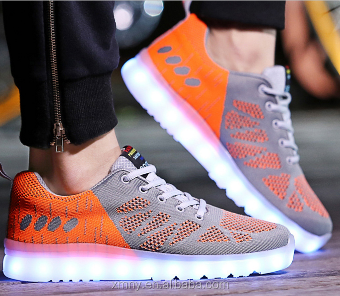 New design fashion tenis led dance shoes for men