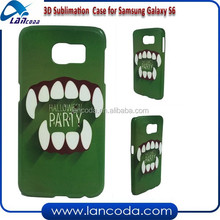 Vacuum transfer sublimation mobile phone cases for Samsung Galaxy S6 G9200,3D sublimation cases,3D sublimation cover