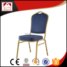 Buckingham Aluminium/ Steel Stacking Chair with Gold Frame