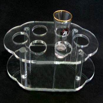 Chinese factory plexiglass cup display rack used in restaurant