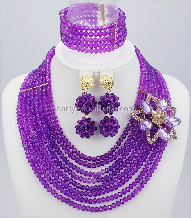 African 2016 Fashion beads jewelry set SD801 jewelry sets African women beads bridal wedding dubai Necklace Earring set