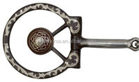 "5"" Brown Steel Concho Bit with Snaffle Mouth.2-SA-BT27"