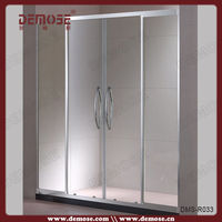 small sliding shower door/bathroom shower cubicle and tray