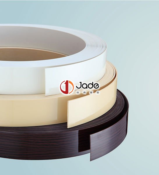 Solid Color, Bicolor, Wood Grain PVC Edge Banding for Furniture