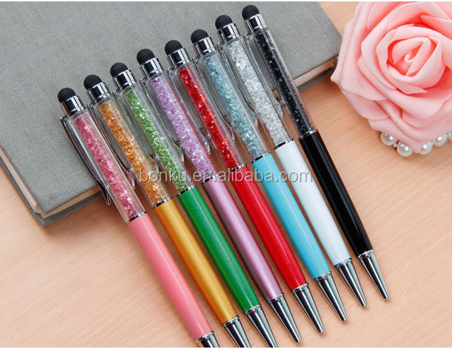Hot slim exquisite metal clip metal twist ball point pen promotional