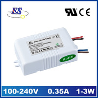 3w 350mA 12v ac dc switching mode power supply with ce ul cul