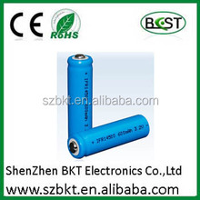 14500 3.2v lifepo4 battery 550 mA with PCM portable light battery