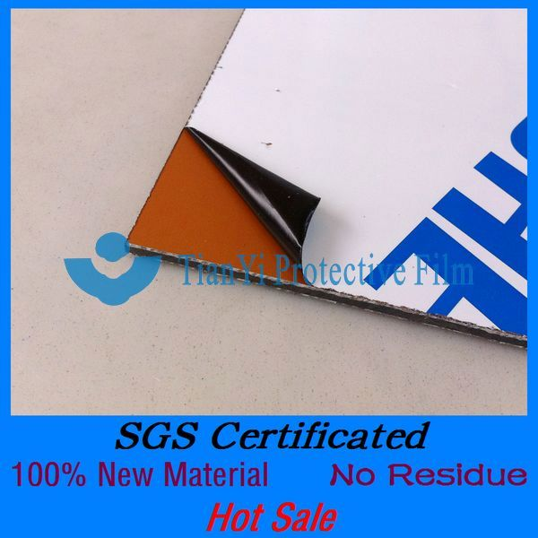 SGS Certificated no residue easy peel pa pe transparent colored plastic film