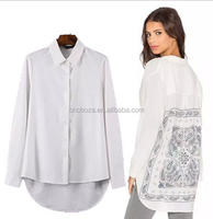 Z54271B Hot selling women shirt ladies trendy tops and blouses floral shirt