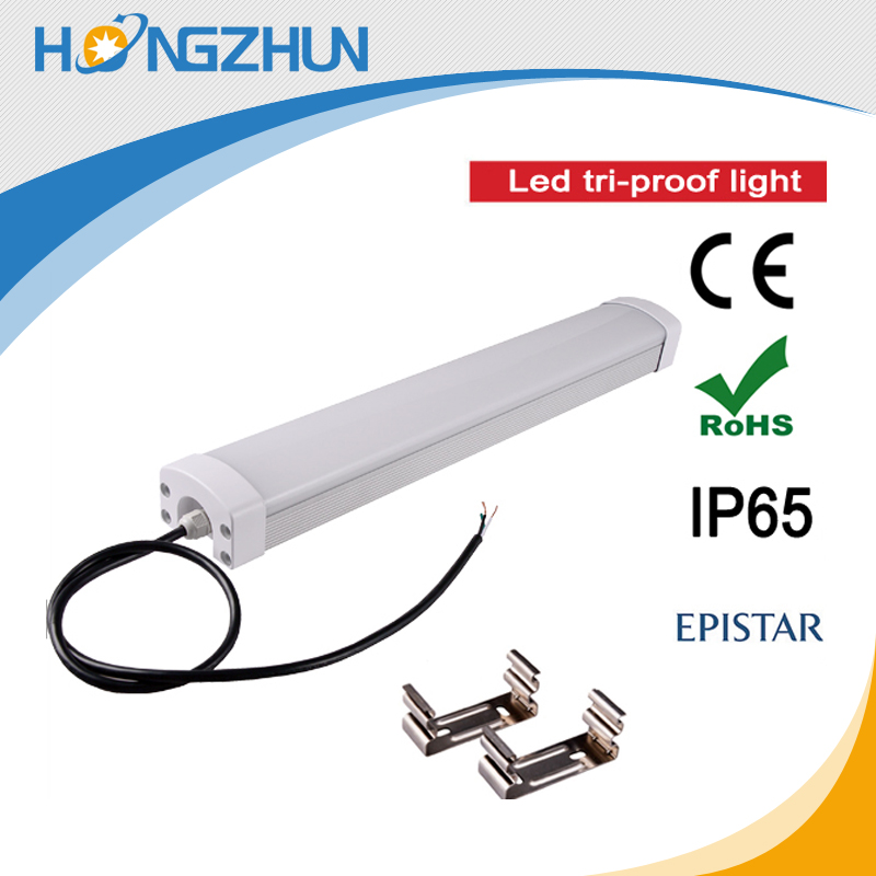 IP65 waterproof lighting fixture CE ROHS led tube fitting lamp fitting outdoor tri-proof lighting fixtures