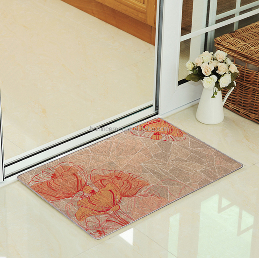 New Products On China Market Rubber Backing Custom Entrance Door Mat