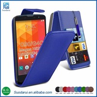 2015 Newest Arrical Mobile Phone Flip Leather Cover Case Mix Colors For LG G4C C90