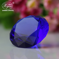 Cut glass crystal blue purple red decorative glass diamond for wedding & holiday decoration gift