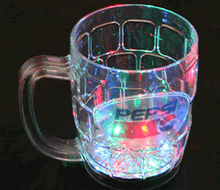 LED Flashing Beer Glass/Mug glowing light up cup