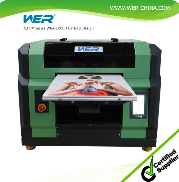 Perfect performance 3d embossed effect WER-E2000UV multi function impresora uv printer