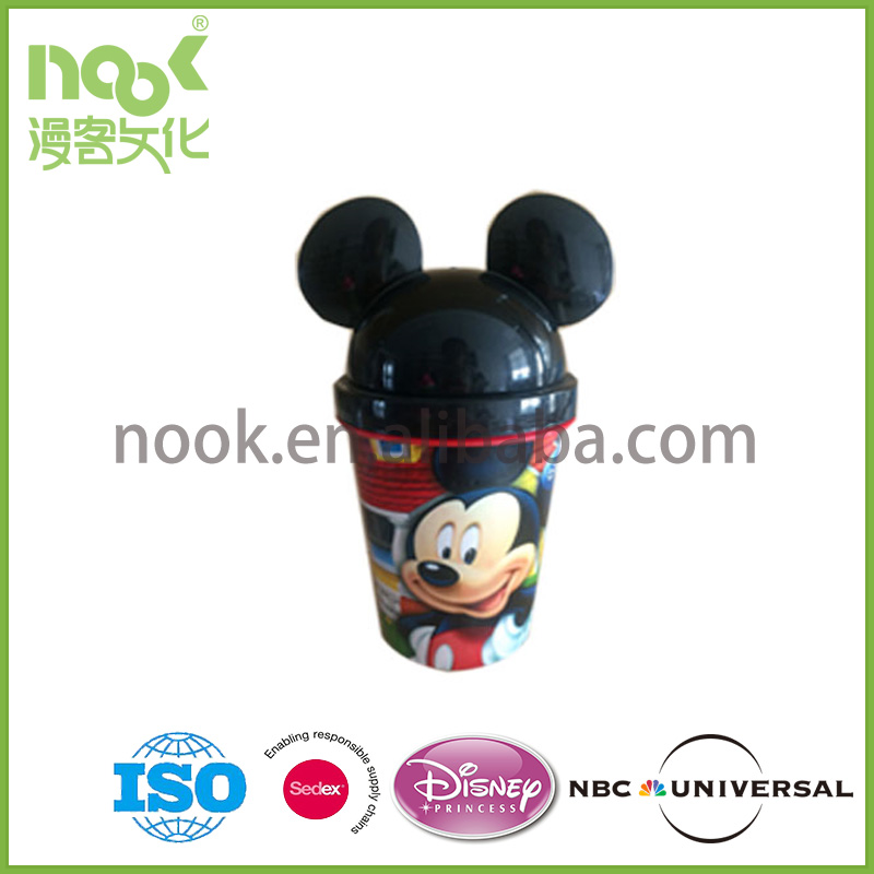 3D Lenticular Printing Cup With Lid and Straw