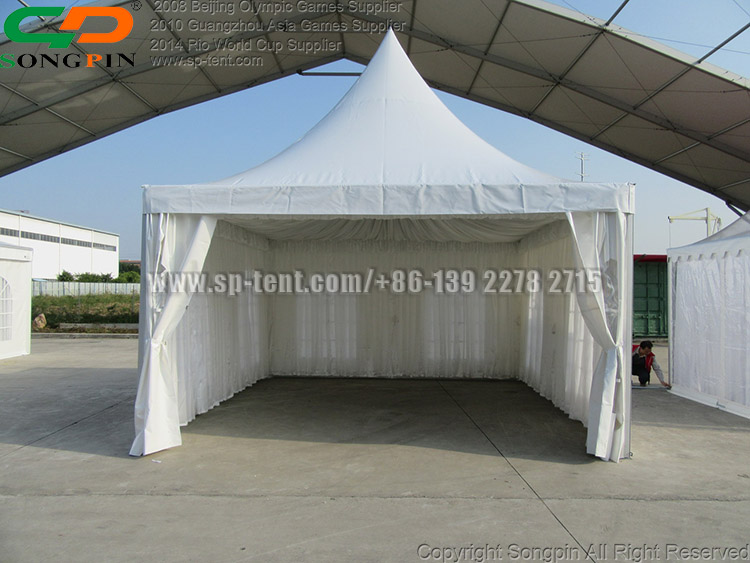 5x5m Durable custom promotion aluminum canopy pagoda tent for outdoor activities