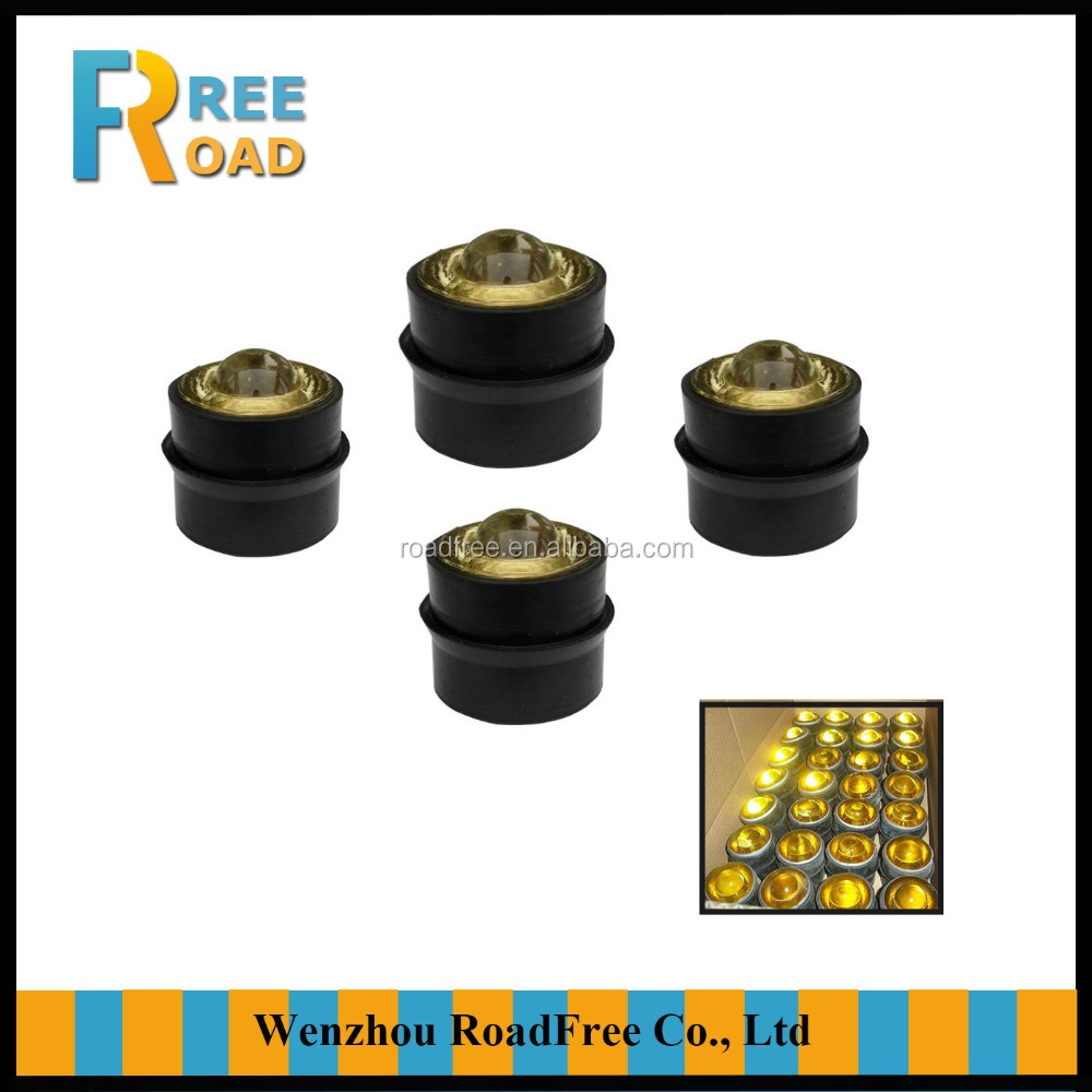50mm 360 degree reflective tiger eye cat eye tempering glass road stud