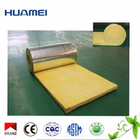 Huamei heat resistant glass wool blanket /rolls Insulation Material price