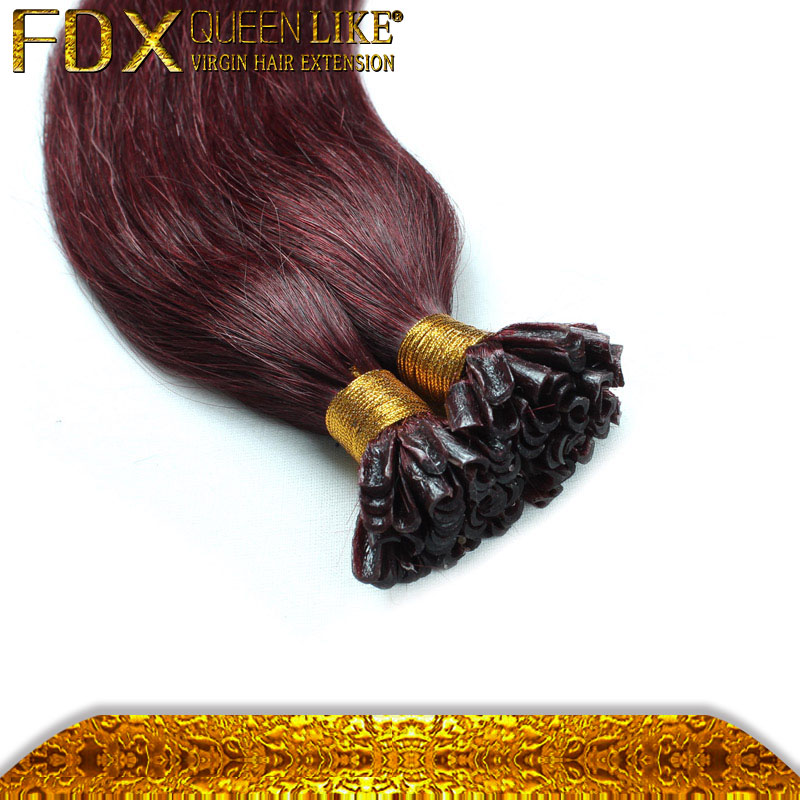 Peruvian Human Hair High Feedback Cheap Remy <strong>U</strong> Tip Bonded Hair Extensions