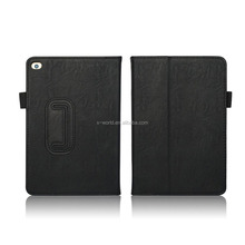 Factory Direct Pricing Cow Leather Multifunctional Case for iPad Mini 4 - Tablet Cover BLACK with Built in Stand, Hand Strap