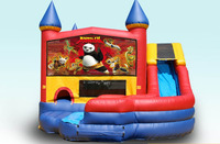 Panda theme inflatable bouncy castle with slide M2029