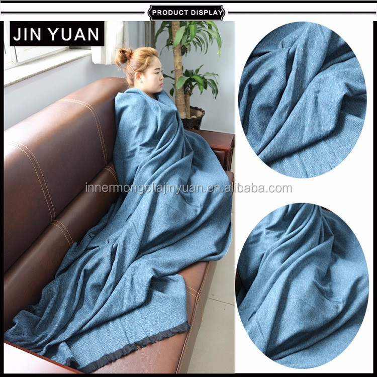 china factory plain cashmere wool blanket