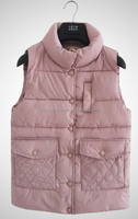 2016 Hot Quilted Girls Ladies White Vests without hood