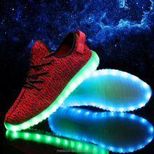 Luminous Casual Usb Canvas 7 Colour Led Light Unisex glowing Shoe Schoen Zapatos De Marca Cheap Chaussure Lumineuse