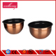 Copper Plated Stainless Steel Serving Bowl with Lid