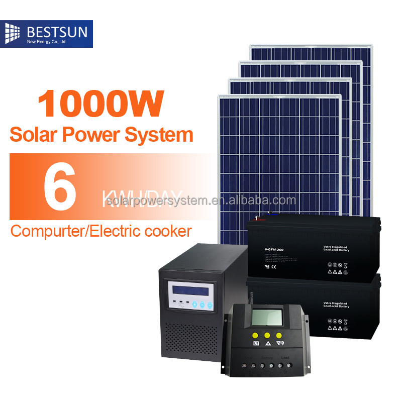 Bestsun Off Grid BFS-1000w Solar Power System Price Portable Solar System for lighits, washing machine, microwave, fan,
