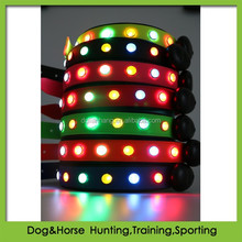 patented Illuminating LED PVC Dog Collars and Leashes set wholesale