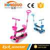 New Design 3 Wheels Baby Kids Sit Scooter 3 in 1 Mini Kick Scooter