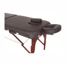 2-section wooden folding massage table