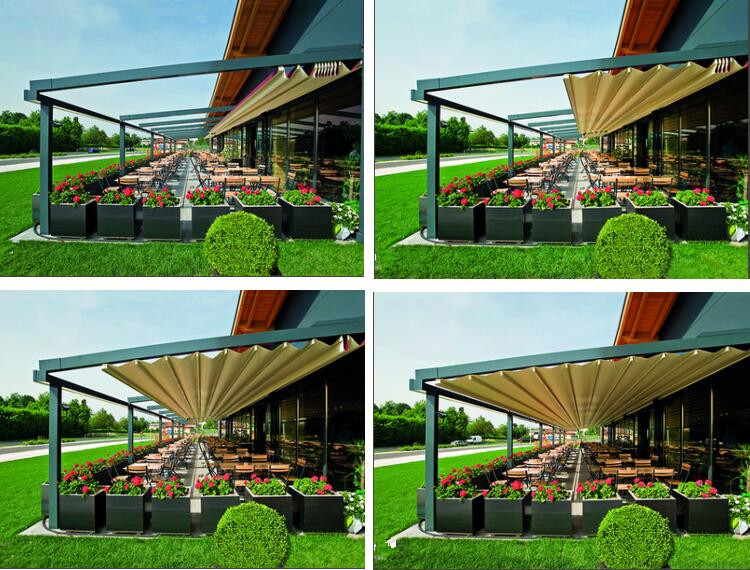 The multifunctional awning retracted pergola garden retractable for sale