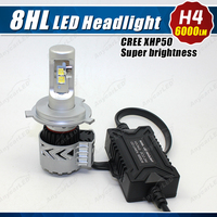 Latest Super Bright 8HL 6000LM car led h4 headlight bulb