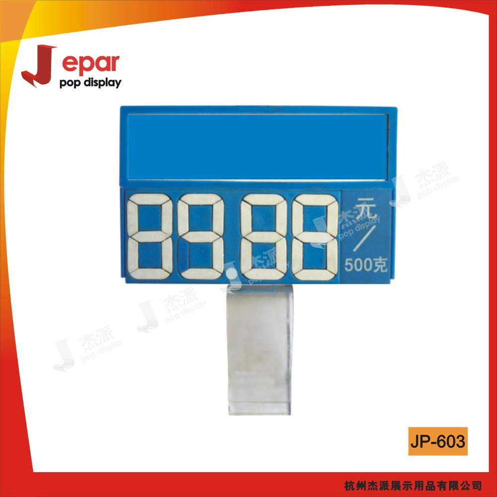 Plastic rotating price sign boards for shops