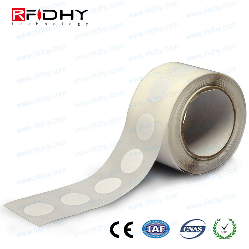 Thin Tiny PVC 13.56MHz RFID NFC Tag for Rentals and Vouchers