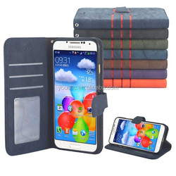 Flip Wallet Mobile Phone Leather Case For Samsung Galaxy S4 I9500