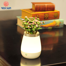 2017 latest design 350ml waterproof ABS PE LED vase studying desk lamp