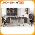 120 Degree 2-Person Computer Chair Melamine Workstation Malaysia