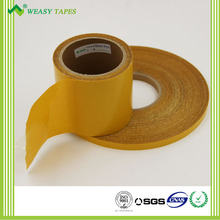 Double sided weave filament tape for carpet joint