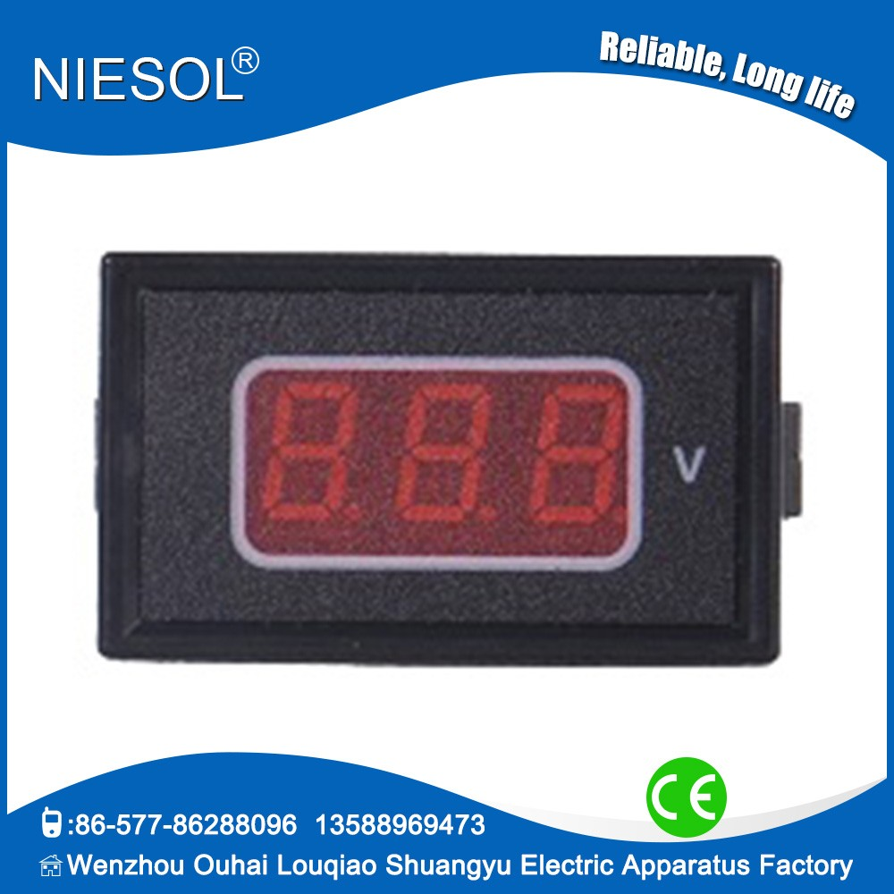 2016 Wenzhou factory supply super small mini digital voltmeter meter