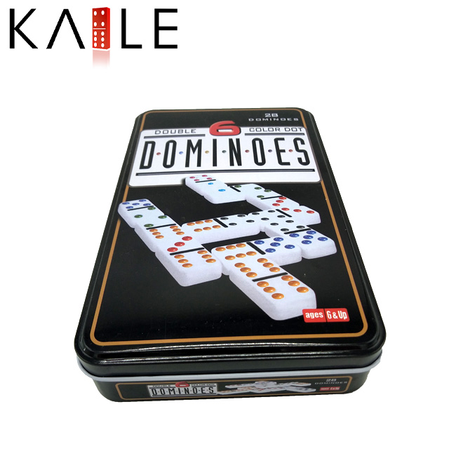 domino tile with Tin Box