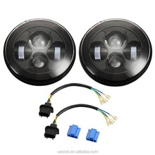 "High quality 40w Jeep Wrangler Headlight for jeep wrangler offroad 7"" round led headlight"