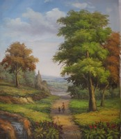Modern nature landscape oil painting images with frameless
