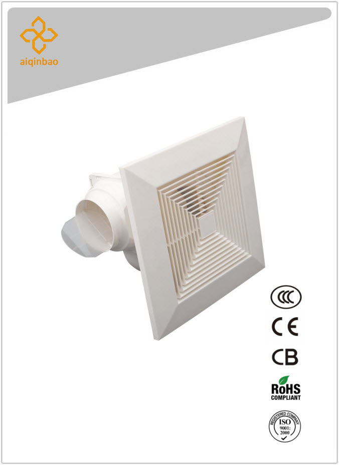 "quite 10"" ceiling mounted office ventilation fan ABS plastic air circulator"