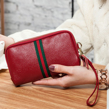 Wholesale fashion genuine leather ladies coin clutch purses