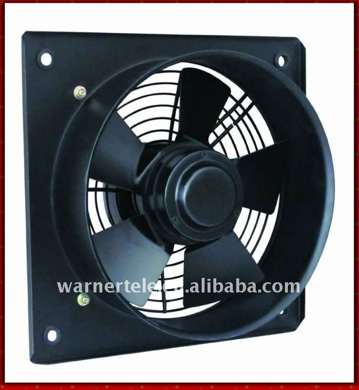 W-TEL industrial louvered exhaust fan for cabinet shelter